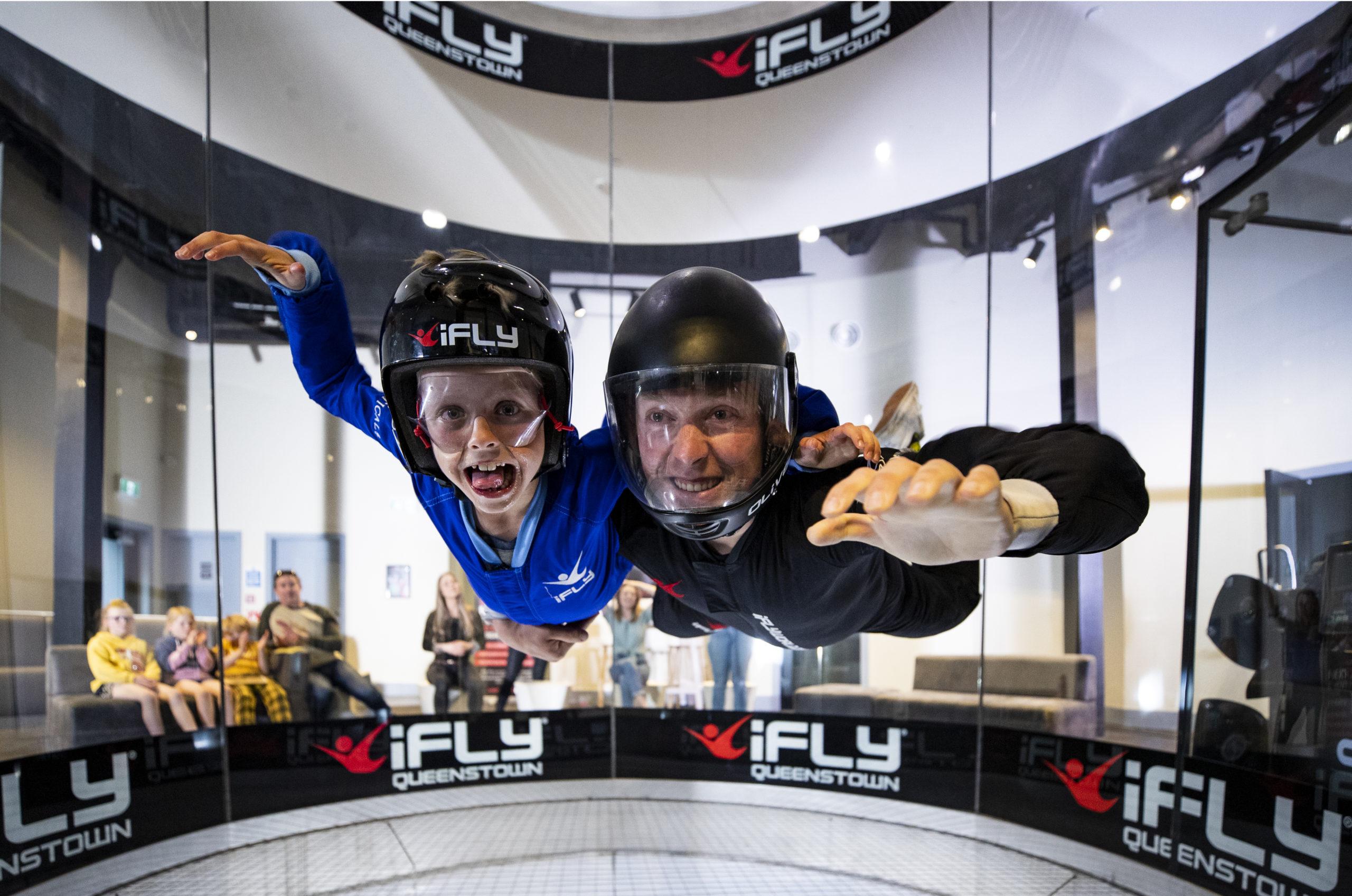Tandem indoor skydive at IFly Queenstown